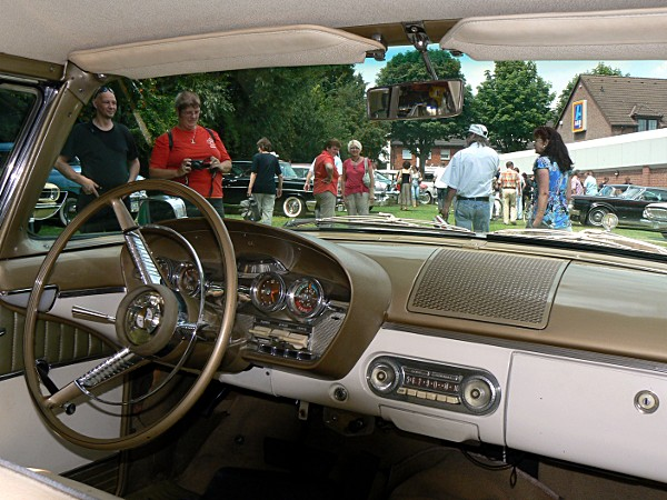 view from inside the Edsel