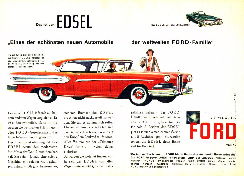 "marketing analysis of ford's edsel and Marketing strategy: ford spent a huge amount of moolah on the yet to be  launched frontrunner of the organisation ""foote, cone and belding"",."